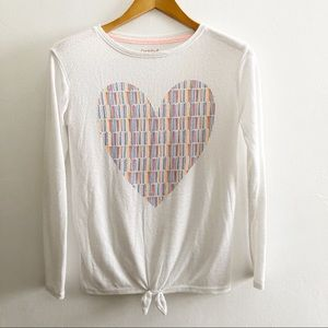 Cat & Jack Cream Heart Sweater
